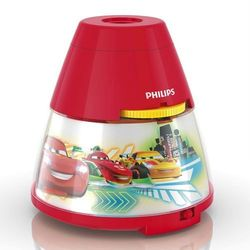 DISNEY - Lampka nocna Projektor LED Czerwony Cars Wys.11,8cm