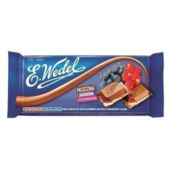 E. WEDEL 100g Czekolada mleczna jagodowa i poziomkowa