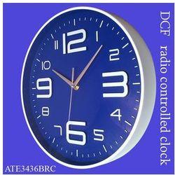 Zegar ALFA sterowany radiowo /niebieski