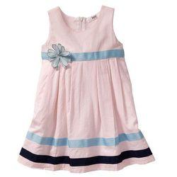 Sukienka bonprix stary róż - biały w paski
