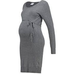 Mama Licious MLJOANNA Sukienka dzianinowa medium grey melange