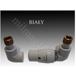Zestaw zaworów grzejnikowych termostatycznych LUX prawy BIAŁY
