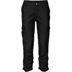 Spodnie bojówki 7/8 bonprix czarny