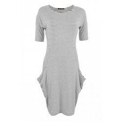 Sukienka w paski (Kolor: wielobarwny, Rozmiar: 38)