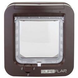 SureFlap Drzwiczki z mikrochipem, brązowe - SureFlap kolor brązowy