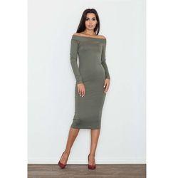 2527f6edfb suknie sukienki czerwona sukienka z odkrytymi ramionami de facto (od ...