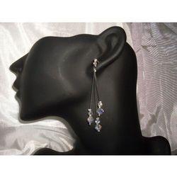 K-00016 Kolczyki z kryształkami Swarovski - w kolorze kryształu rabat 25%