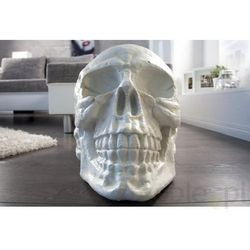 Figurka Dekoracyjna Skull biała Invicta Interior i35220