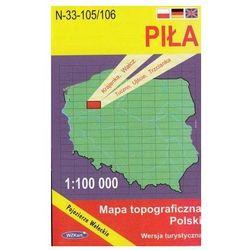 WZKart: PIŁA 1:100 000 mapa topograficzna Polski wydanie turystyczne (opr. miękka)