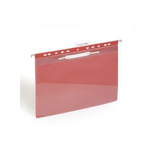 Skoroszyt zawieszany Durable A4 PVC z kieszenią czerwony