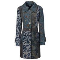 Płaszcz bonprix niebiesko-kolorowy