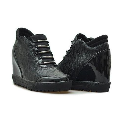 Sneakersy Filippo DBT00817 Czarne lico + lakier Ceny i