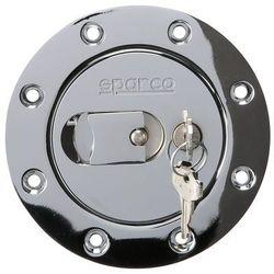 Pokrywa wlewu paliwa chrom z kluczykiem Sparco
