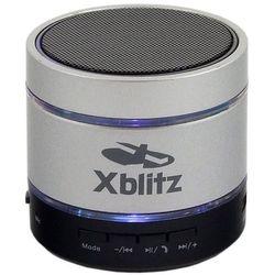 Przenośne głośniki bluetooth z mikrofonem i odtwarzaczem MP3 Xblitz Illuminated HD srebrne