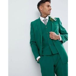 39113c964ebae ASOS DESIGN Wedding Skinny Suit Jacket With Square Hem In Forest Green -  Green