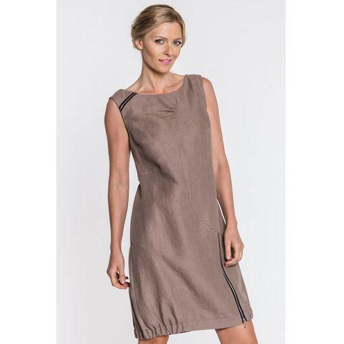 43794ca4bf Sukienka w kolorze cappucino - Metafora - porównaj zanim kupisz