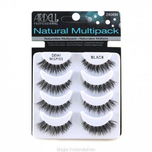 91269a27b13f1c Ardell Natural Multipack Demi Wispies Black - Zestaw Sztucznych Rzęs W Pasku  Czarne 4 PARY
