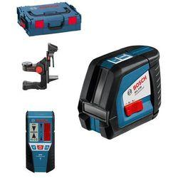 Laser krzyżowy Bosch GLL 2-50 + BM1 + LR2 + L-Boxx