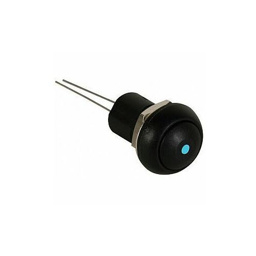 PRZYCISK MINI PUSH SWITCH WITH BLUE LED 1P SPST OFF-ON