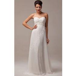 Suknia ślubna z kryształkami i gipiurą | klasyczne suknie ślubne
