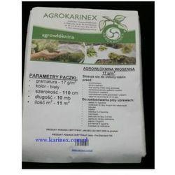 Agrowłóknina wiosenna PP 17 g/m2 biała 1,1 x 10 mb. Paczka o wadze 0,2 kg