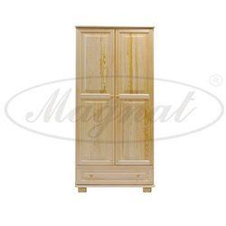 Szafa drewniana 2D nr1 wieszak/półki S90