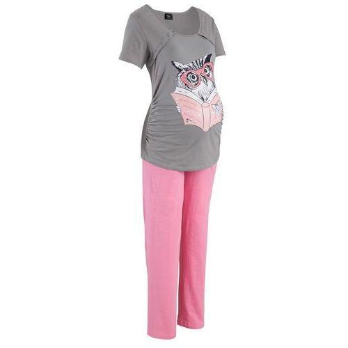 d5902cc193e616 Piżama do karmienia bonprix szaro-jasnoróżowy - porównaj zanim kupisz