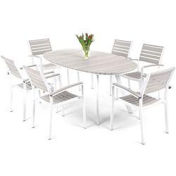 Meble ogrodowe HOME&GARDEN 211437 Lorenzo aluminiowe Biało-Szary + DARMOWY TRANSPORT!