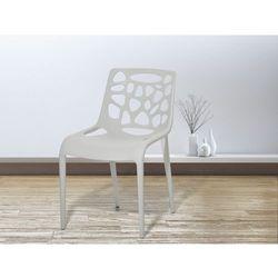 Krzeslo ogrodowe - plastikowe jasnoszare - krzeslo z tworzywa sztucznego - MORGAN