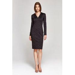 a8c5150208 suknie sukienki pomaranczowa wyjsciowa sukienka z metalowa obroza z ...