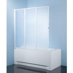 SANPLAST KW-3-c CLASSIC Parawan nawannowy 120x140cm, profile białe 600-013-2110-01-520