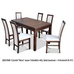 Zestaw Ares 12 Stół 80x150(+40) 6 krzeseł A41