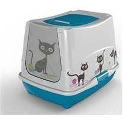 YARRO Toaleta z filtrem Trendy z motywem śmiesznego kota, kolor fun - kiwi | Darmowa dostawa