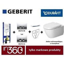 Geberit Duravit Darling New Zestaw Stelaż podtynkowy Miska WC wisząca z deską w/o (111.153.00.1+111.813.00.1+115.135.21.1+2557090000+0069890000) IN.000Z128