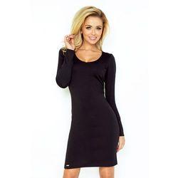 d853185a7d suknie sukienki czarna wizytowa sukienka koronkowa ze stojka z ...