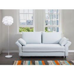 Sofa do spania jasnoniebieska - kanapa - rozkladana - wypoczynek - EXETER