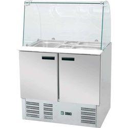 Stół chłodniczy sałatkowy znadstawą szklaną, poj. 392 lEKO