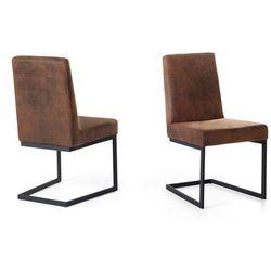 Krzeslo brazowe - tapicerowane - do jadalni - do kuchni - ARCTIC