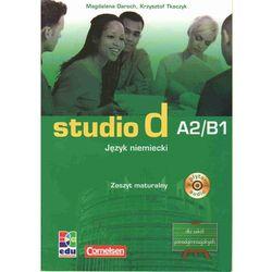 Studio d A2/B1 język niemiecki zeszyt maturalny z płytą CD (opr. miękka)