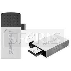 Pendrive Transcend Jetflash 380 OTG micro USB/USB , 16GB Silver - TS16GJF380S