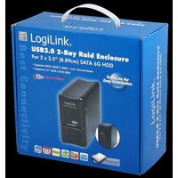 Obudowa 2x SATA HDD, USB3.0, RAID LogiLink