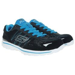 BUTY SPORTOWE SKECHERS KIDS GO WALK 2 FLASH BLACK BLUE