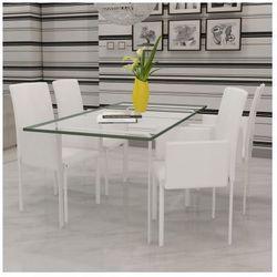 Zestaw foteli jadalnianych ze sztucznej skóry 4 sztuki białe Zapisz się do naszego Newslettera i odbierz voucher 20 PLN na zakupy w VidaXL!