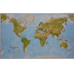 Świat mapa fizyczna 1:20 000 000