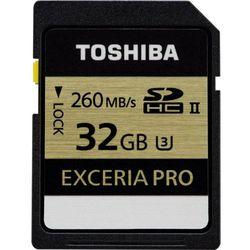 Karta pamięci SDHC Toshiba THN-N101K0320E6, 32 GB, Class 10, UHS-II, 260 MB/s / 240 MB/s