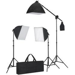 vidaXL Zestaw oświetleniowy, 3 lampy fotograficzne na statywie i softbox. Darmowa wysyłka i zwroty