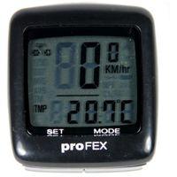 Licznik rowerowy PROFEX 21 Funkcji Czarny + Zamów z DOSTAWĄ PRZED ŚWIĘTAMI!