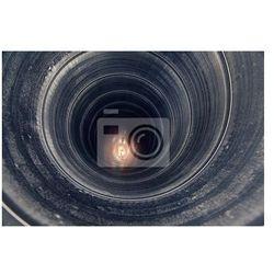 Fototapeta wewnątrz rury metalowe tekstury
