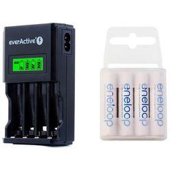 ładowarka everActive NC-450 Black + 4 x R03/AAA Panasonic Eneloop 800 (box)