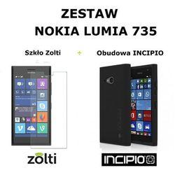 Zestaw obudowa Incipio DualPro + szkło hartowane Zolti Nokia Lumia 735